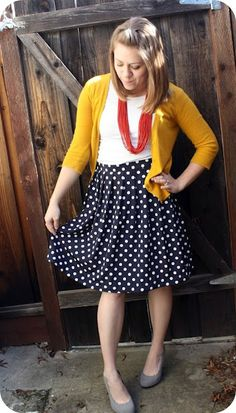 adorable colors and prints in this outfit from craftiness is not optional