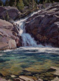 Shadow Creek Pool Oil 30 x 22 by Matt Smith