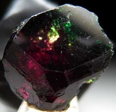 "Dravite exhibiting the ""Usambara"" color change effect. From Nchongo, Umba Valley, Tanzania"