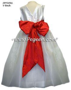 TOMATO RED FLOWER GIRL DRESSES