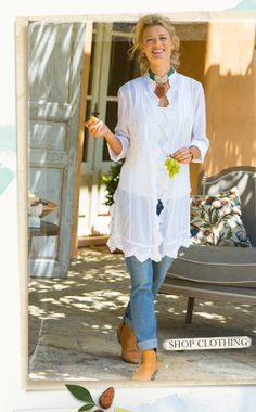 Soft Surroundings:Shop all Clothing. Pioneer Woman's fav clothing.