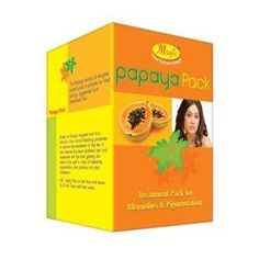 Nature's Papaya Pack Treatment Pack For Blemishes and Pigmentation 60 g by Nature's. $7.49. Has natural pigmentation removal properties. Suitable for dark patchy, pigmented and blemished skin. Improves the complexion of the skin. Removes the dead epithelial cells. This Papaya extract and enzyme based pack is suitable for dark patchy, pigmented and blemished skin. Based on papaya enzymes and citrus extracts, it has natural pigmentation removal properties to improve the...