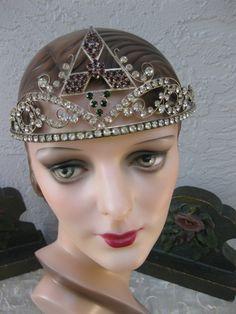 Paste stones flapper tiara