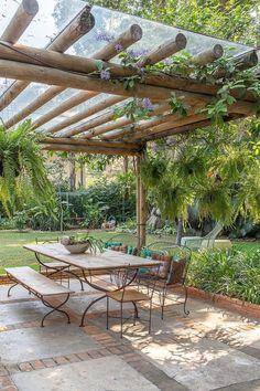 Outdoor Pergola, Outdoor Rooms, Outdoor Gardens, Outdoor Living, Wood Pergola, Pergola Shade, Pergola Plans, Rustic Outdoor Kitchens, Outdoor Gym