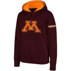 Minnesota Golden Gophers Women's Big Logo Pullover Hoodie - Maroon