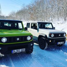 Suzuki jimny white and green in snow. Jimny 4x4, Jimny Sierra, Jimny Suzuki, Toyota Auris, Car Engine, All Cars, Transportation Design, Cars And Motorcycles, Offroad