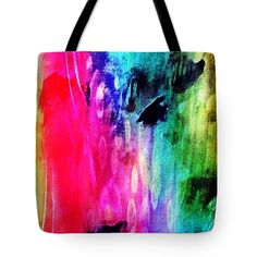 Luxe Splash Tote Bag by Rachel Maynard. The tote bag is machine washable, available in three different sizes, and includes a black strap for easy carrying on your shoulder. Mixed Media Artwork, Basic Colors, Poplin Fabric, Bag Sale, Doodle Art, Color Show, Colorful Backgrounds, Doodles, Canvas Prints