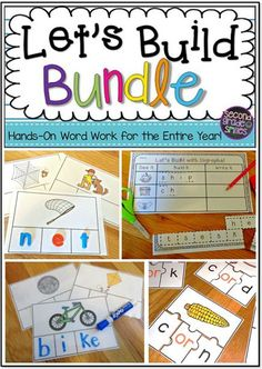 Make planning Daily 5 word work a breeze! This bundle has everything you need for your first or second grade students to practice phonics spelling skills all year! I use these hands-on activities in my literacy centers every week!