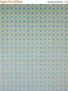 Clearance Sale Paris Forever~Yellow/Aqua Checks ~Cotton Fabric, Quilt, ~Wilmington Prints~Fast Shipping SB302