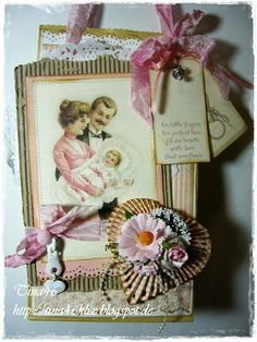 """Card by LLC DT Member Tina Klix. Image and papers from Pion Design's """"Sweet Baby"""" collection."""