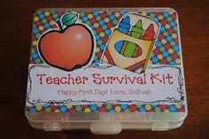 Sweetheart Moments: Back to School Teacher Survival Kit