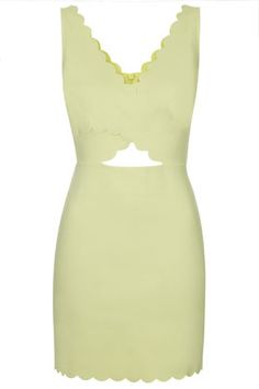 Scallop Cut-Out Bodycon Dress