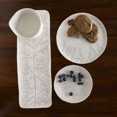 Textured botanical serveware by Dana Brandwein Oates - I have these plates - they are some of my favorites