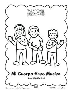 Cinco de Mayo is coming up!  This song is an awesome way to introduce some simple Spanish words to some preschoolers...and there is a free printable coloring page, too!  When you are done with this...there are over a hundred other songs just waiting to be discovered and enjoyed on this site! Preschool Spanish, Preschool Music, Teaching Music, Teaching Spanish, Preschool Ideas, Teaching Ideas, Orff Activities, Multicultural Activities, Simple Spanish Words