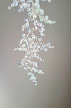 Unicorn Bridal hair piece, Rainbow Silver Bridal headpiece, Bridal Hair Jewelry, Mermaid jewelry, Beach wedding jewelry