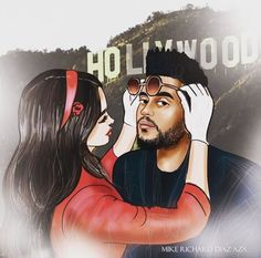 Lana Del Rey + The Weeknd #Lust_For_Life #art by Mike Richard Diaz