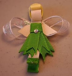 tinkerbell hair bow instructions