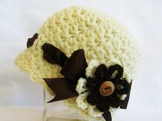 CROCHET PATTERN Cluster Stitch Hat 5 sizes by YarnBlossomBoutique - Newborn to Adult