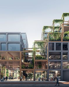 REBEL is a bold, flexible and sustainable design for the plot Zuidas Amsterdam. A smart framework enables spatial flexibility for a mixed-use building; Green Architecture, Futuristic Architecture, Landscape Architecture, Architecture Design, Facade Design, Exterior Design, University Architecture, Genius Loci, Sustainable Design