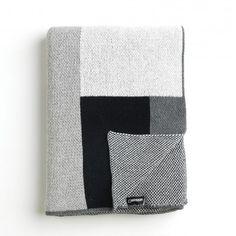 Sonia Graphite Knit Blanket   Unison