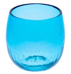 Taru Glass Sky Blue (d70 x h80mm) mfr. Ryukyu Glass Craft Taru Glass: Barrel Glass