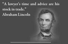 a lawyer's time and advice...