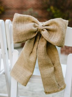 #Rustic wedding // Burlap chair decor // Jen Yuson Photography