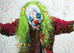 Deep dream filter app clown digital art