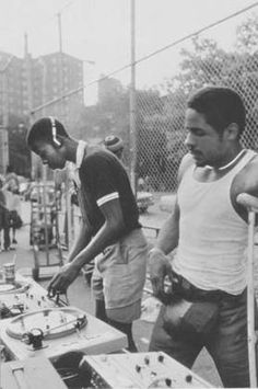 New York DJs  Photo by Henry Chalfant