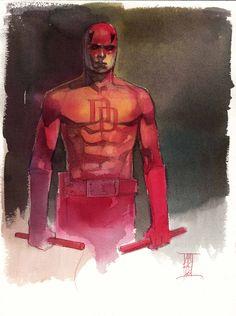 Daredevil by Alex Maleev * Daredevil Artwork, Daredevil Elektra, Comic Book Artists, Comic Artist, Comic Books Art, Marvel Art, Marvel Comics, Daredevil Matt Murdock, Marvel Series