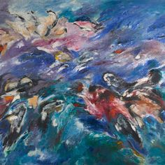 Sonia Gechtoff, The Beginning, 1960, oil paint on canvas, 69 x 83 inches. ©SONIA GECHTOFF/DENVER ART MUSEUM: VANCE H. KIRKLAND ACQUISITION FUND