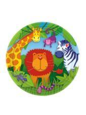 Jungle Animals Dessert Plates 8ct-Party City