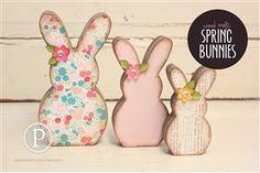 Spring Bunnies Set: WOOD & SUPPLIES $16.99