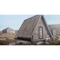 """Tjakke är en originell och flexibel stuga från Baseco som fått sitt namn efter samiskans ord för """"fjälltopp"""". Den kan användas på många sätt: bastu, sovstuga, liten sommarstuga, fiske- eller jaktstuga."""