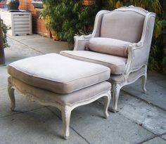 Vintage French Provincial Bergere Chaise Lounge by midcenturyminx, $699.00