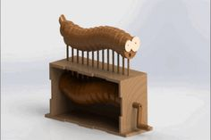 Wooden snake automata - Other, STEP / IGES, SolidWorks - 3D CAD model - GrabCAD