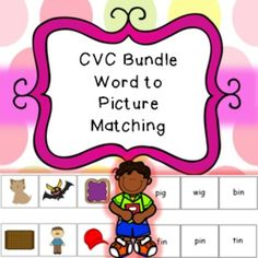 Word to Picture CVC matching.Laminate the picture page as an a4 page to use as a board. Cut out and laminate the box words. Pupils have to match the words to the pictures. Excellent at working out if children are able to recognize CVC words and how well they can read.
