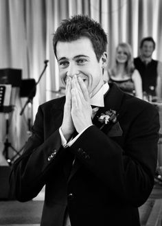I love the Grooms reaction...you can tell he is still as in awe as he was the first day he layed eyes on such a beautiful woman <3