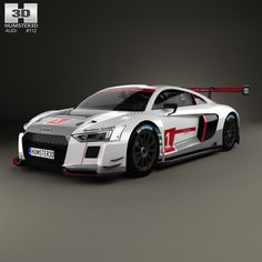 Audi R8 LMS 2016 3d model from humster3d.com. Price: $75