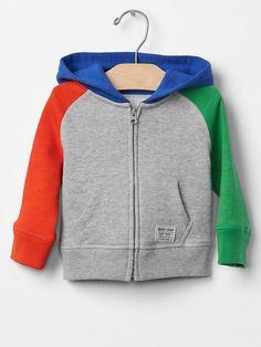 Colorblock zip hoodie Product Image
