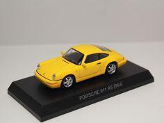 KYOSHO PORSCHE MINICAR COLLECTION 6 911 RS 964 YELLOW 1/64 JAPAN #Kyosho #Porsche