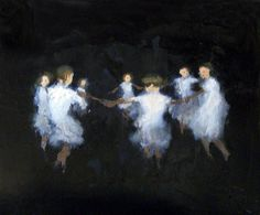 "David Storey; Oil, Painting ""Shadowplay"""
