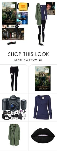 """me in 'Miss Peregrine's home for peculiar children'"" by j-j-fandoms ❤ liked on Polyvore featuring Miss Selfridge, Eos, Fat Face, Converse, Mr & Mrs Italy and Lime Crime"