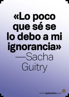 La frase del lunes, por Sacha Guitry