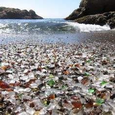 Glass Beach in MacKerricher State Park near Fort Bragg, California.