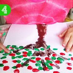 #Kirschbaum aus Fingerabdrücken #malen.