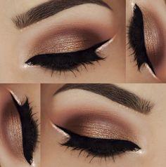 •• Brows: @anastasiabeverlyhills DipBrow in Auburn and Dark Brown •• Eyeshadows: @morphebrushes 35O palette •• Liner: @motivescosmetics Little Black Dress (credit: paola.11)