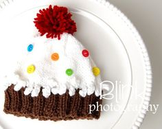 Made to OrderHandKnit Cupcake HAT with by withsprinklesplease, $30.00
