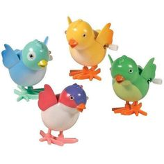 Sweet little birdies can help but bring a smile. The Wacky Chick Wind Up Toy - Set of 2 bring the chicks with wind-up capabilities and sweet exteriors. While these chicks do love nature, there wind-up