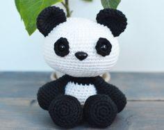 Panda  amigurumi haakpatroon